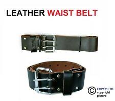 "Heavy Duty Oil Tan Leather Waist Belt Work Belt - Fits Up o 46"" Waist 85485"
