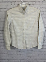 Brooks Brothers 346 Womens Cotton Long Sleeve Button Up Shirt Plaid Size 10 (M)