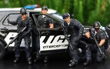 77468b American Diorama SWAT Team Polizia sec Set da 4 personaggi SNIPER 1:24
