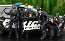 77468B American Diorama Swat Team Polizei SEK Set aus 4 Figuren Sniper 1:24