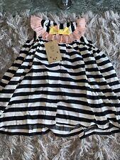Wauw Capow By Bang Bang Copenhagen Girls Pretty Pretty Stripe Dress Age 6-7 Year