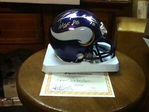 Fran Tarkenton~Autographed Minnesota Vikings Riddell mini Helmet ~COA Authentic