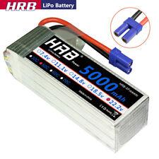 HRB 22.2V 5000mAh  6S LiPo Battery 50C EC5 for RC Heli Drone Yak 54 Trex 700