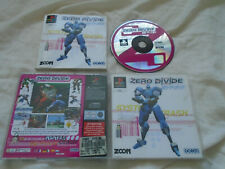 Zero Divide PS1 (COMPLETE) fighting rare Sony PlayStation black label