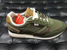 Scarpe da uomo GAS modello saucony verde cuoio sneakers sportiva passeggio nuovo