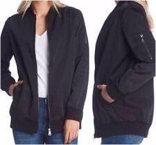 NWT Women's Black BERNARDO Full Zip Boyfriend Jacket Size Small S