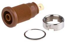 Hirschmann Test & Measurement, Brown 4mm Banana Plug, Gold Plated, 1000V ac/dc,