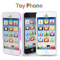 Kids Music Toy Light up Cell Phone Educational Learning Touch Screen Child Gift