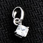 """attractive 14K Silver plated Crystal Square pendant chain for necklace 0.59"""""""