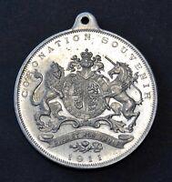 King George V & Queen Mary 1911 Coronation Souvenir Pendant~Aluminium~XFine