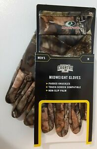 Mossy Oak Break-Up Country Men's Medium Touch-Screen Compatible Midweight Gloves