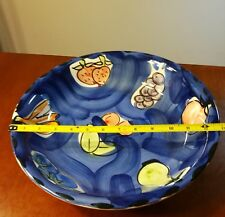 """Collectibles Stoval Ceramic Italy Large 13"""" Fruits Round Serving  Dish"""