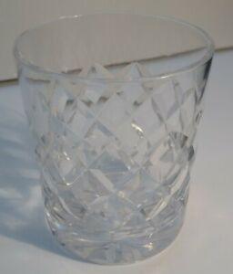 Thomas Webb crystal Dennis Diamonds whiskey glass 3 inches tall