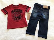 True Religion Tiger Tee 2 Piece Shirt and Pants Set Style # TU737ST92 - NWT *2T