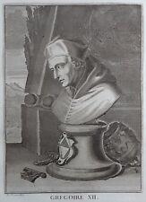 Gravure Etching Portrait GREGOIRE XII Papa Gregorio XII Bernard Picart