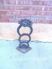 iron stand 3 horseshoes planter plate cultivator sweeps western garden decor