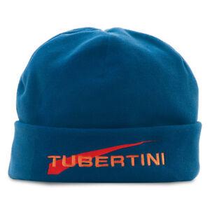 CAPPELLO CUFFIA UOMO PILE TUBERTINI PESCA INVERNO CAP SPORT RUNNING BLUE MARE