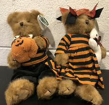 "Lot of 2 Bearington Bears ""Julie & Ghoulie"" 10"" Collector Bear 2009 RETIRED"