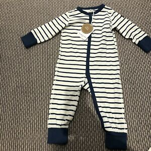 Baby Boy Polarn O. Pyret with organic Cotton Babygrow Jumpsuit 6-12 Months BNWT