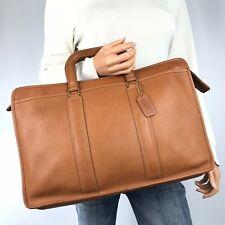 COACH Vintage British Tan Leather Embassy Briefcase #5090