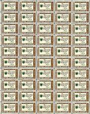 1960 - BENJAMIN FRANKLIN - CREDO - Vintage Mint Sheet of 50 U.S. Postage Stamps
