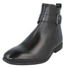 Stivali, anfibi e scarponcini da uomo nero con fibbia 100% pelle