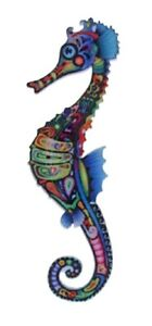 Seahorse Brooch Pin Acrylic Print Vintage Style Women Dress Animal Jewellery UK