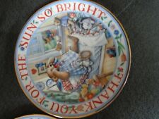 "Royal Doulton Bone China Rise & shine Teddy 8"" Plates Linda Hill Griffith Ltd"