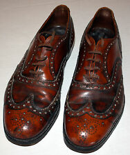 Vintage Church's Burwood Sandalwood Mens 10 F Brogue Brown Leather Shoe Medium