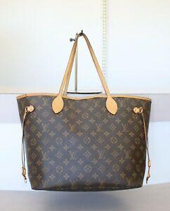 AUTHENTIC LOUIS VUITTON NEVERFULL MM Monogram Tote Bag No.1330