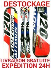 "mini ski snowblade occasion SALOMON ""CROSSMAX"" taille:120cm+ fixations."