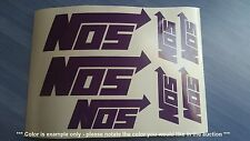 NOS Nitrous Oxide system Emblems / Stickers / Decals - 7 total, multiple colors