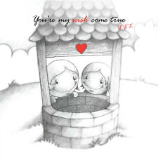 """""""You're My Wish Come True"""" Cupids Birthday/Annivers Card 4 him/her Wishing Well"""