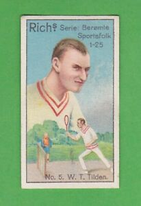 1927 Danish Rich´s Sport series #5 William Bill Tilden tennis RC Rookie RARE!!
