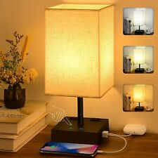 3-Color Touch Control Table Lamp, Comzler Dimmable...