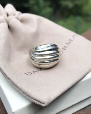 David Yurman Sterling Silver 925 Dome Sculpted Cable Ring Size 7