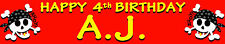 PIRATE PERSONALISED BIRTHDAY BANNERS PACK OF TWO