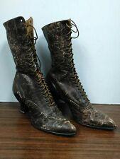 Antique Victorian High Top Ladies Lace Up Shoes