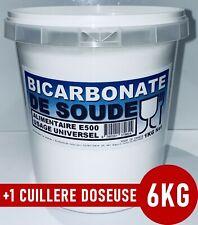 ⭐ 6KG (6X1KG) | BICARBONATE DE SOUDE SODIUM ALIMENTAIRE E500 USAGE UNIVERSEL