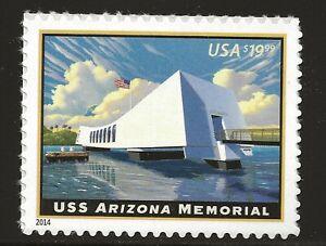 US Scott #4873, Single 2014 USS Arizona $19.99 VF MNH