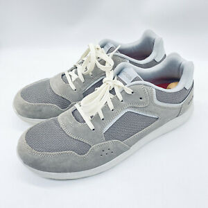 Men's 12 M crocs Kinsale Pacer Charcoal Gray Suede Leather Shoes Sneakers