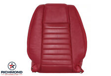 2005-2009 Ford Mustang V8 GT - Driver Side Lean Back Leather Seat Cover Red