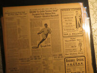 Baseball Tu Cobb Newspaper NUXATED IRON AD MADES WINNER GALVESTON TX NP