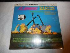 FLAMING BANJOS BLUEGRASS COUNTRY HOMER & THE BARNSTORMERS ALSHIRE LP NM VINYL