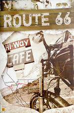 (LAMINATED) ROUTE 66 - MAP POSTER (91x61cm)  NEW LICENSED ART