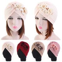 Women Cancer Turban Indian Muslim Beanie Hat Flower Head Wrap Chemo Arab Cap New