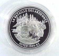 MÉDAILLE EN ARGENT - LIBERTÉ ÉGALITÉ FRATERNITÉ - BATAILLE DES ARDENNES