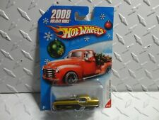 Hot Wheels 2008 Holiday Rods Gold Metrorail Nash Metropolitan w/Real Riders