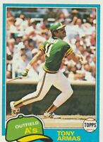 FREE SHIPPING-MINT-1981 Topps #629 Tony Armas Oakland Athletics Baseball Card