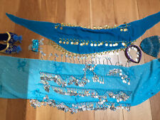 Child's Blue Belly Dancing Costume